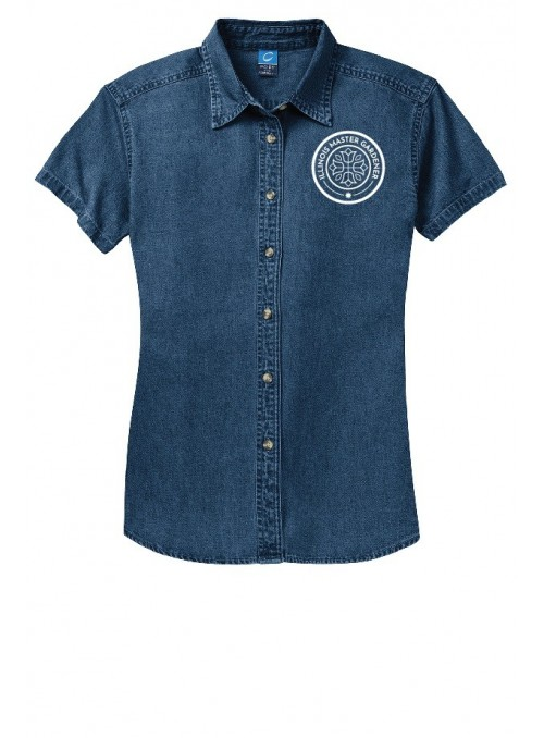 ILMG Ladies Short Sleeve Denim