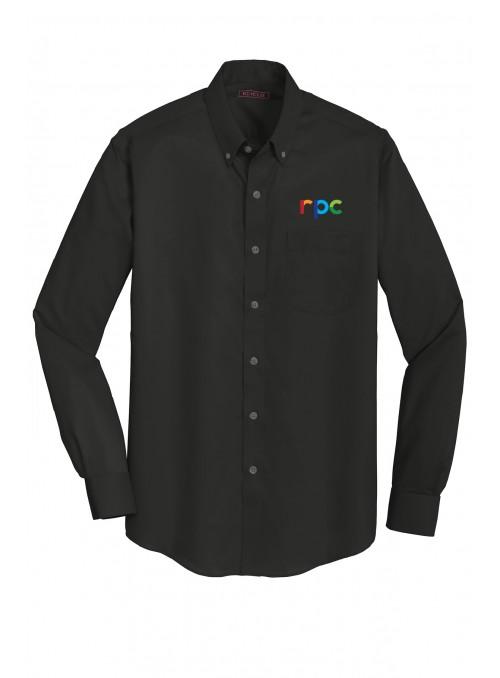 Twill Button Up Dress Shirt