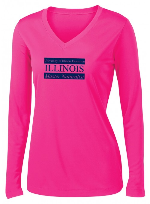 Ladies Long Sleeve V-Neck T...
