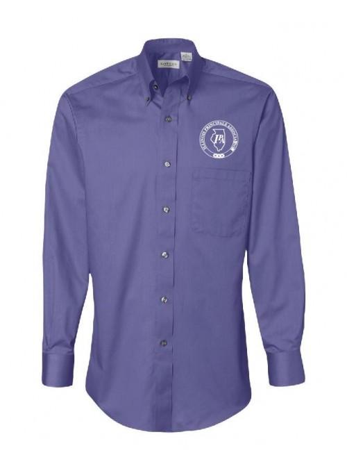 IPA Van Heusen Silky Poplin Long Sleeve Dress Shirt