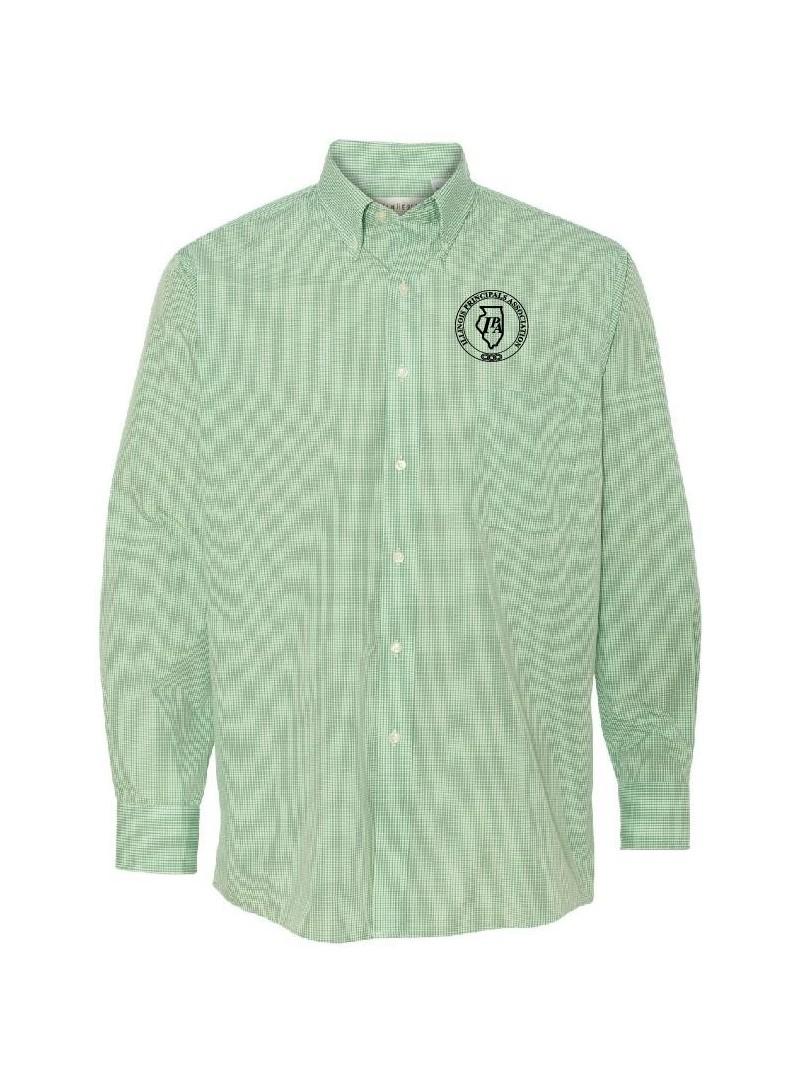 IPA Van Heusen Gingham Checked Long Sleeve Dress Shirt