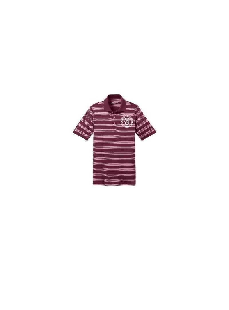 IPA Nike Mens Striped Dry-Fit Golf Shirt