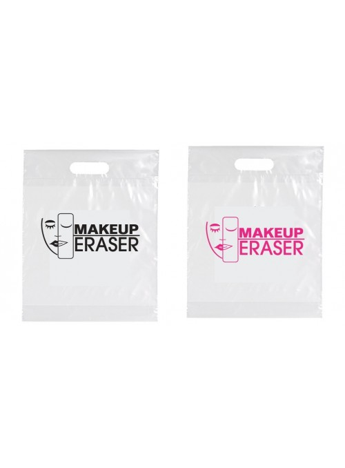 MUE (qty 500) Plastic Die Cut Handle Bags