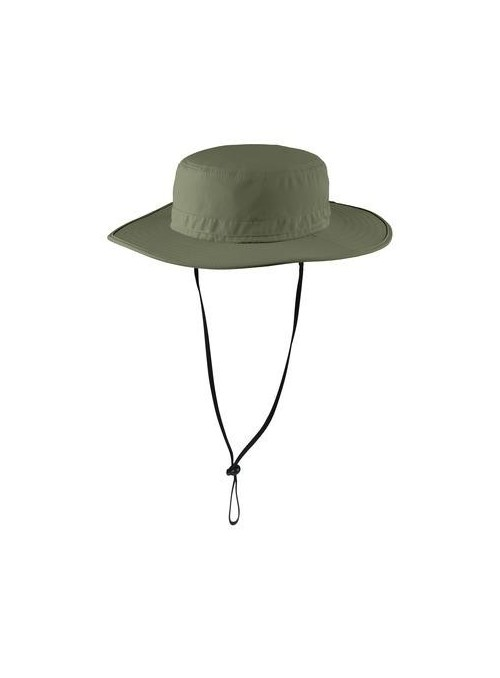 ILMN Taslon UV Bucket Hat with Flap - olive green