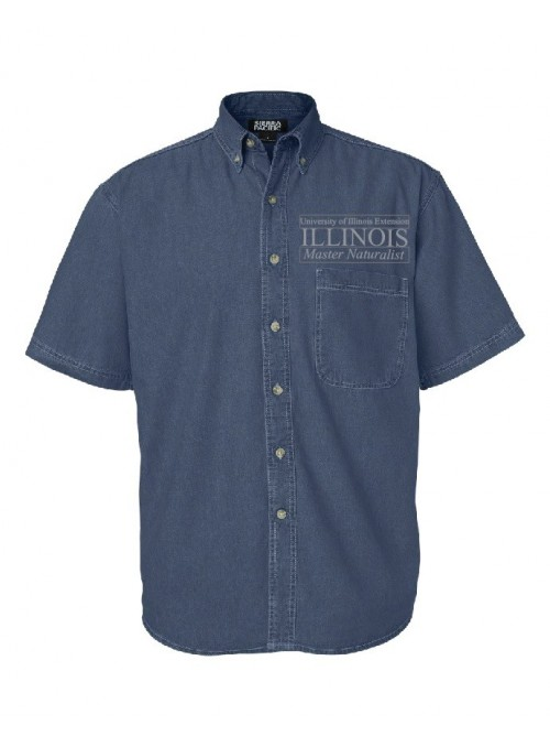 ILMN Mens Short Sleeve Denim