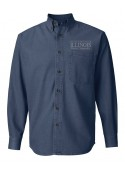 ILMN Mens Long Sleeve Denim Shirt