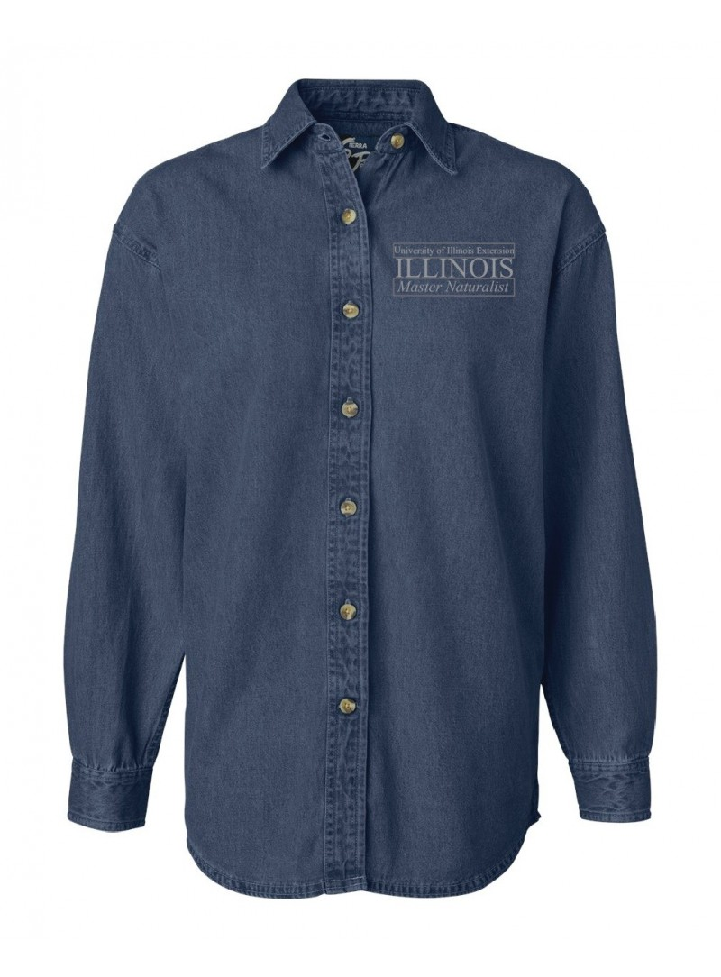 ILMN Ladies Denim Long Sleeve Shirt