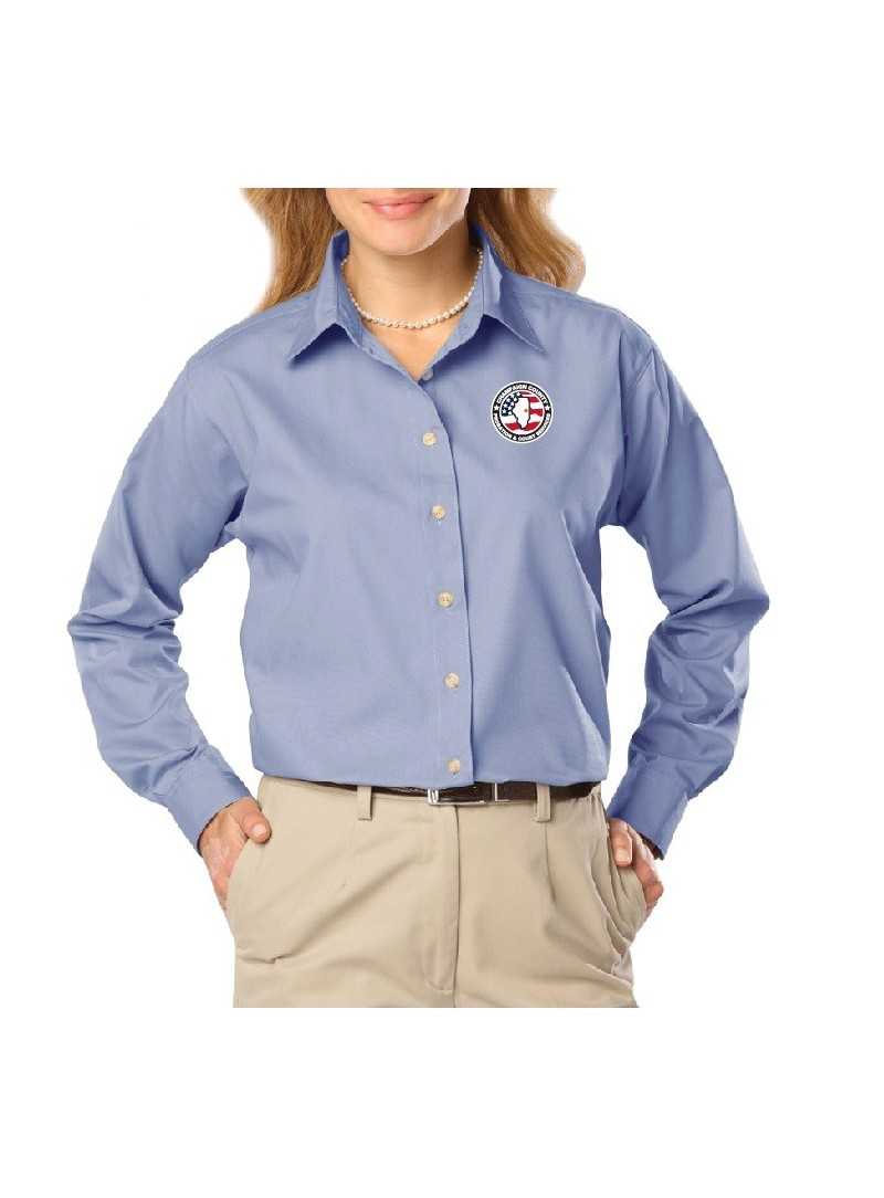 CCPD Ladies Long Sleeve Poplin