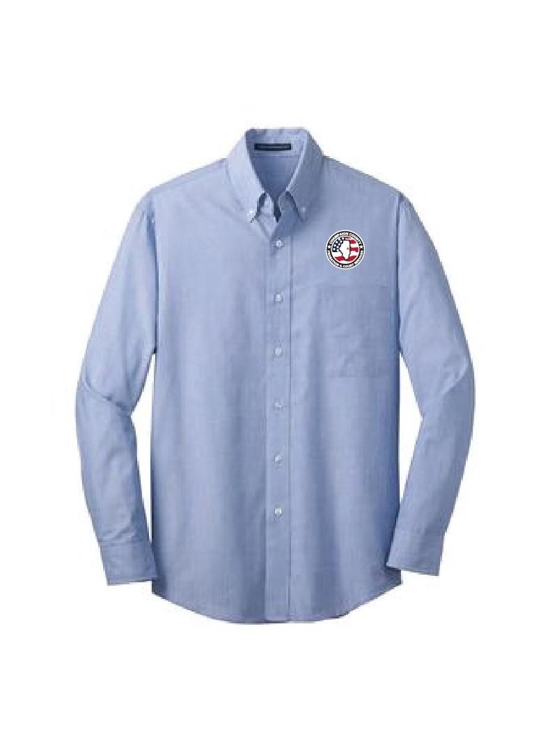 CCPD Men's Cross Hatch Easy Care Dress Shirt