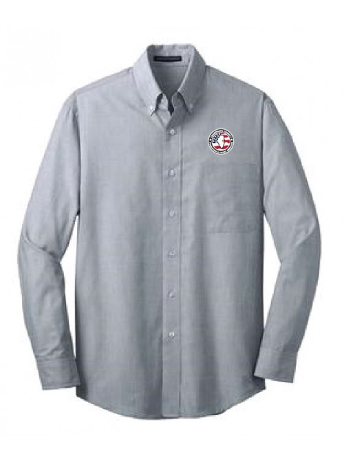 CCPD Men's Cross Hatch Easy Care Dress Shirt