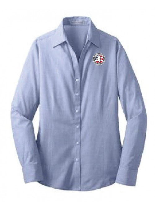 CCPD Ladies Cross Hatch Easy Care Dress Shirt