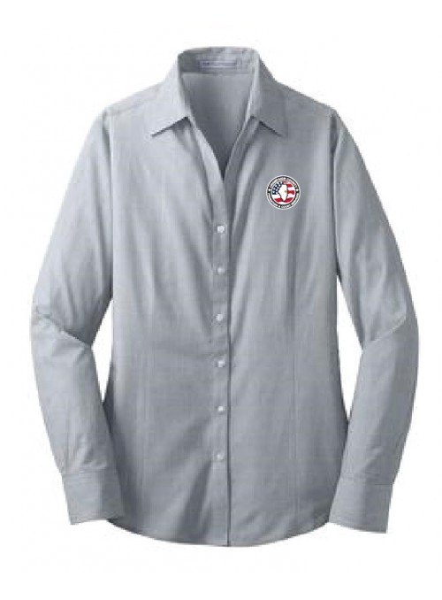 CCPD Ladies Cross Hatch Easy Care Dress Shirt