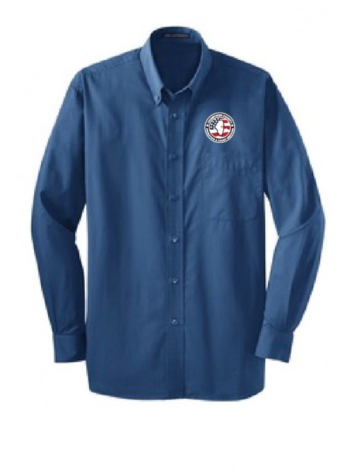 CCPD Men's Tonal Pattern Easy Care Shirt